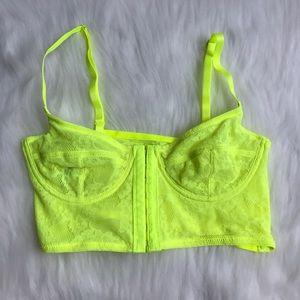 cfdc83d1df2fad Free People Intimates   Sleepwear - Free People Secret Garden Neon Yellow  Bralette