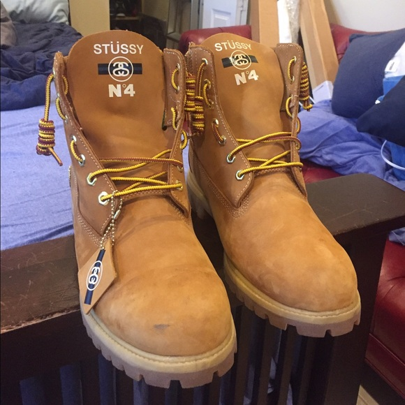 d60a144332f Size 12 Timbs x Stussy Deluxe 6inch Boots