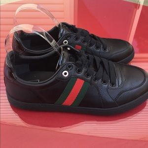 Gucci Other - Gucci red and green striped sneakers size 8.5 37.5