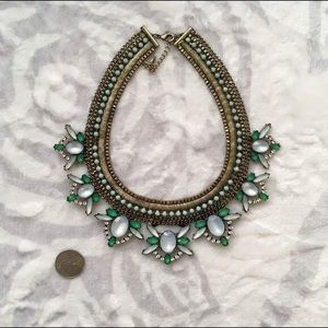 Accessorize green statement necklace