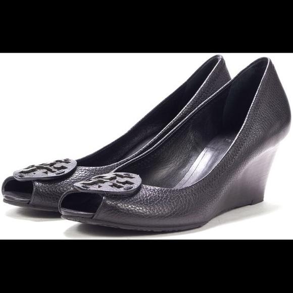 1ac2649e864 Tory Burch Shoes - Tory Burch Sally 2 Tumbled Leather Wedge Pump