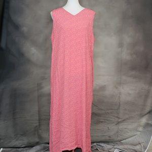 LL Bean pink & orange nightgown 1X
