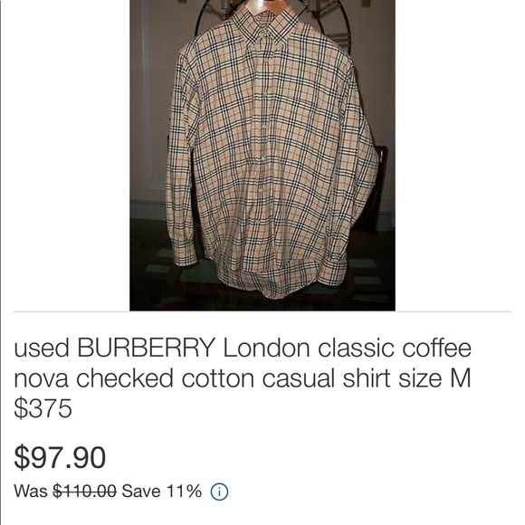 80 Off Burberry Other Burberry Button Collar Shirt Size