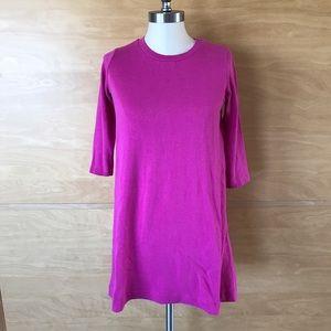 Zara Pink Knit T-Shirt Dress w/elbow-length sleeve