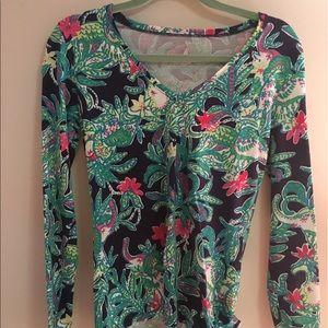 Lilly Pulitzer long sleeve printed shirt