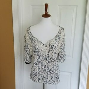 Maurices Lace Peasant Top