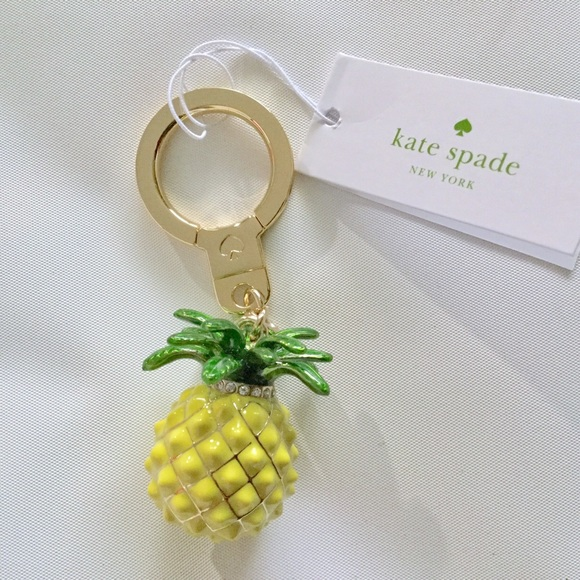Pineapple Accessories 32% off kate spade accessories - kate spade pineapple key chain