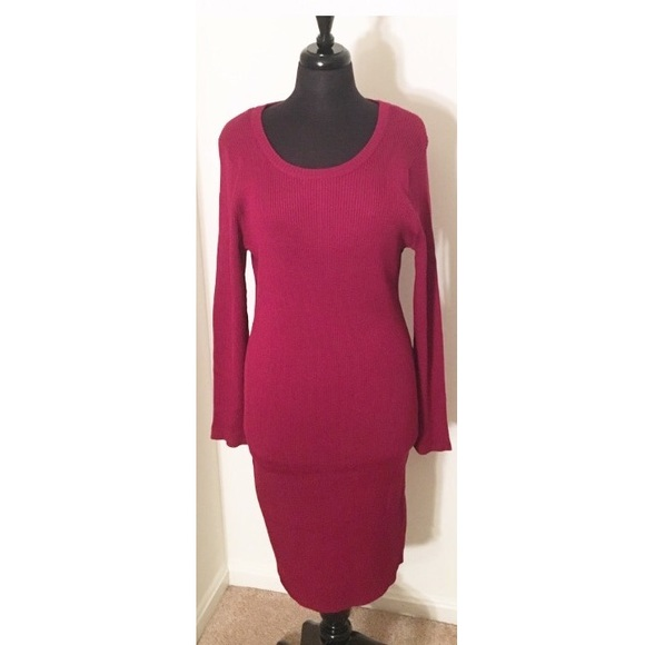 ✨LONG RED KNIT SWEATER DRESS PLUS SIZE 2X✨ NWT