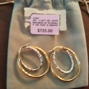Jewelry - 14K White and Yellow Gold earrings