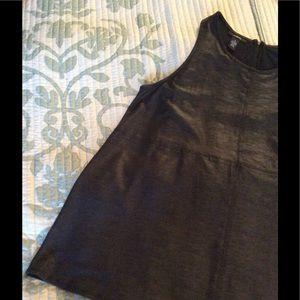 Alfani Tops - Chic sleeveless black top.  Looks like leather!