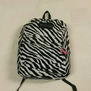 Fuzzy Zebra jansport backpack
