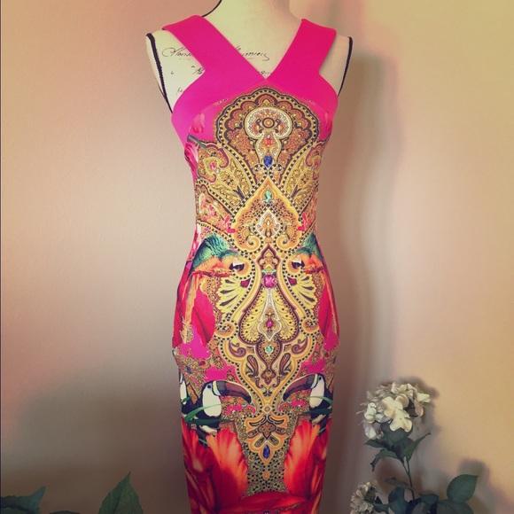 Ted Baker Toucan Dress Size 6 Ted Baker Sz 2