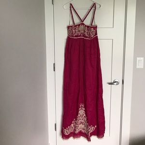 MM Couture Dresses & Skirts - MM Couture Pink Embroidered Maxi Dress