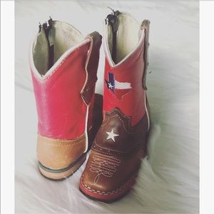 Other - Boys leather cow boy boots