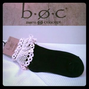 Born Accessories - Born Concept Crocheted Lace Fashion Crew Socks