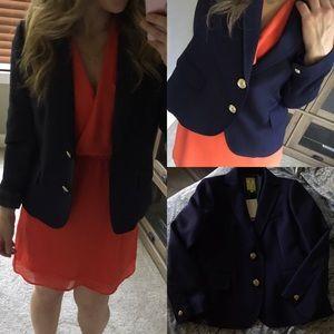 Jackets & Blazers - NWT qmack blazer navy gold button 4