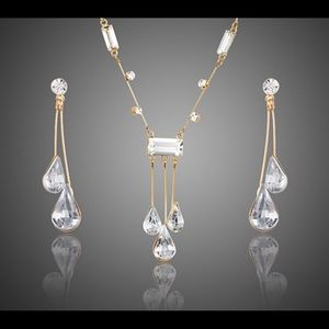 nadri Jewelry - Clear Austrian crystal necklace and earring set