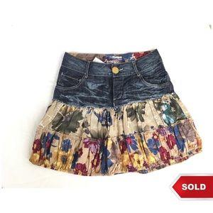 2dbd0f7c5 Desigual Skirts | Sale Denim Skirt Size 4 | Poshmark