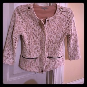 Charlotte Russe white lace blazer, size small!