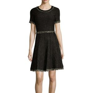 Rebecca Taylor Dresses & Skirts - Rebecca Taylor tweed fringe trim Aline dress