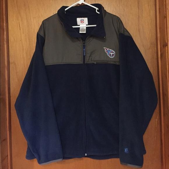 52d48b38 NFL Tennessee Titans full zip fleece SZ XL