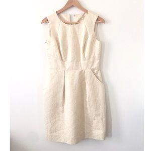 Shoshanna Dresses & Skirts - Shoshanna • Cream and Gold Jacquard Sheath Dress