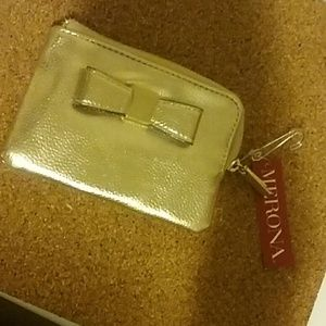 Small Gold Bow Wallet