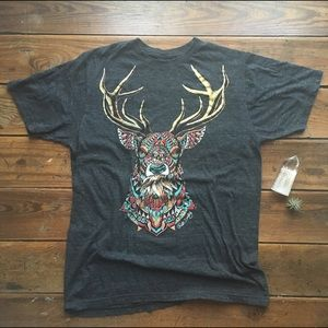 Urban Outfitters geometric deer tee - Riot Society