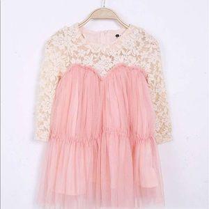 Blush pink dress, couture dress, lace dress,dress