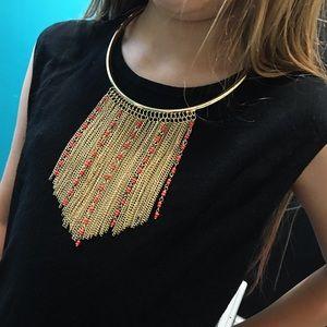 New York & Company Jewelry - NWT NY&Co Gold Chain Bib Necklace