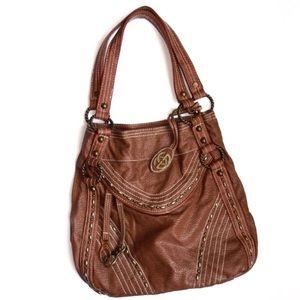 Ecko Unlimited Handbags - Marc Ecko Brown Faux Leather Purse Bag