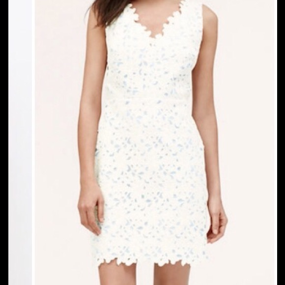 ca73d8aeff8 LOFT Dresses   Skirts - Ann Taylor LOFT white floral lace Dress