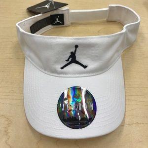 Air Jordan Other - Unisex White Jordan Visor Velcro strap
