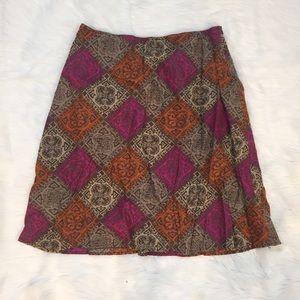 J. Jill Dresses & Skirts - {J. Jill} Diamond Print Knee-Length Skirt