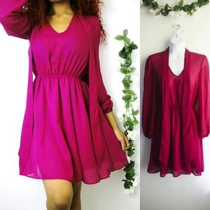 ASOS Dresses & Skirts - Asos Purple Chiffon Dress