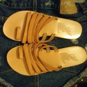 Ancient Greek Sandals Shoes - ANCIENT GREEK SANDAL SZ 38. BEST FIT SZ 7.