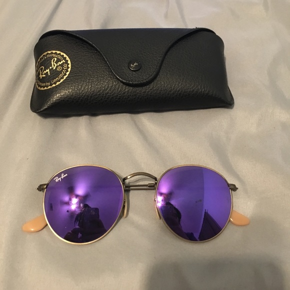 339e17f3849 Ray Ban Purple Violet Flash Round Circle Retro. M 593f49aec28456d54101b460