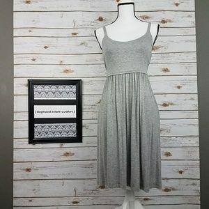 {LOFT} Gray Spaghetti Strap Knit Dress-Small