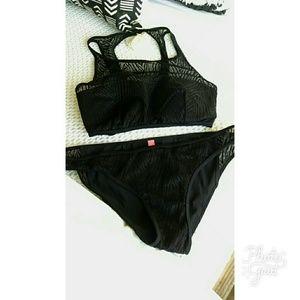 Victoria's Secret Swim - SET!!! VS Zebra Mesh Swim TOP + BOTTOM