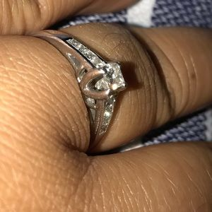 Kay Jewelers Jewelry - 14kt white gold ring with .5 Ct diamonds.