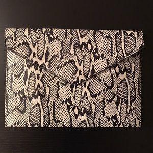 Rebecca Minkoff Handbags - Rebecca Minkoff Snake Embossed Clutch