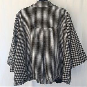 16f5ee981cd Studio 1940 Jackets   Coats - Plus Size Gingham Swing Coat in Black   White