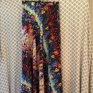 Evelyn Multi Colored Maxi Skirt