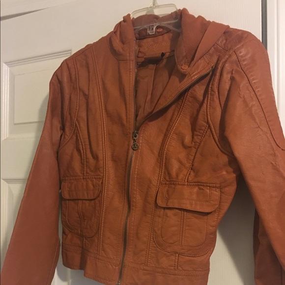 Burnt orange leather jacket