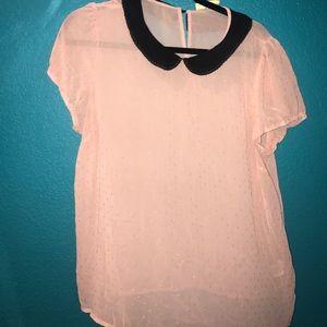 Vera Wang Tops - Vera Wang Pink collared blouse
