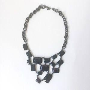 NORDSTROM - black gem statement necklace