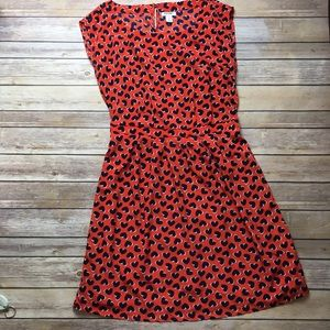 Small Red and Navy Heart Dress Old Navy
