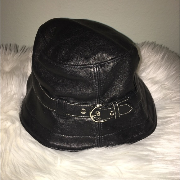 eec6f5276ee Coach Accessories - Authentic Coach black leather bucket hat