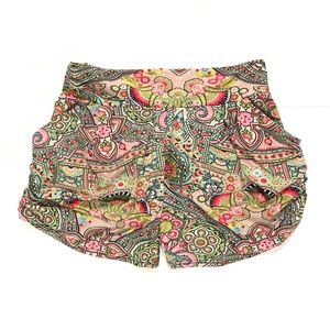 Oilily Pants - Oilily! High Waisted Paisley & Floral Shorts