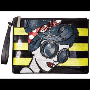 Alice + Olivia Handbags - Alice + Olivia Stace Face Large Zip Pouch